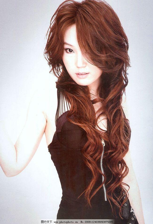 美发 发型 卷发 烫发 长发 美女图片