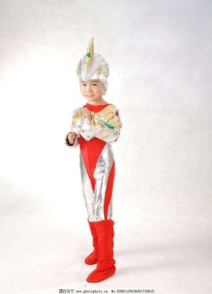 奥特曼战队 儿童 可爱 宝贝 童年 服装 小朋友 儿童幼儿 摄影图库