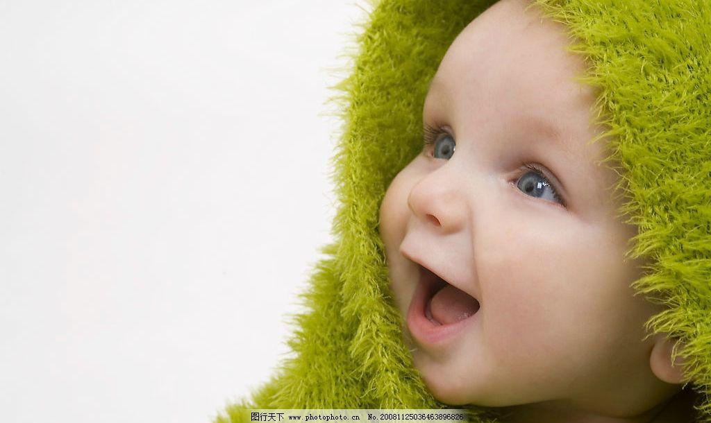 可爱绿色宝宝 大眼睛可爱小宝宝 宝宝 可爱 baby 眼睛 毛巾 宝贝 小孩