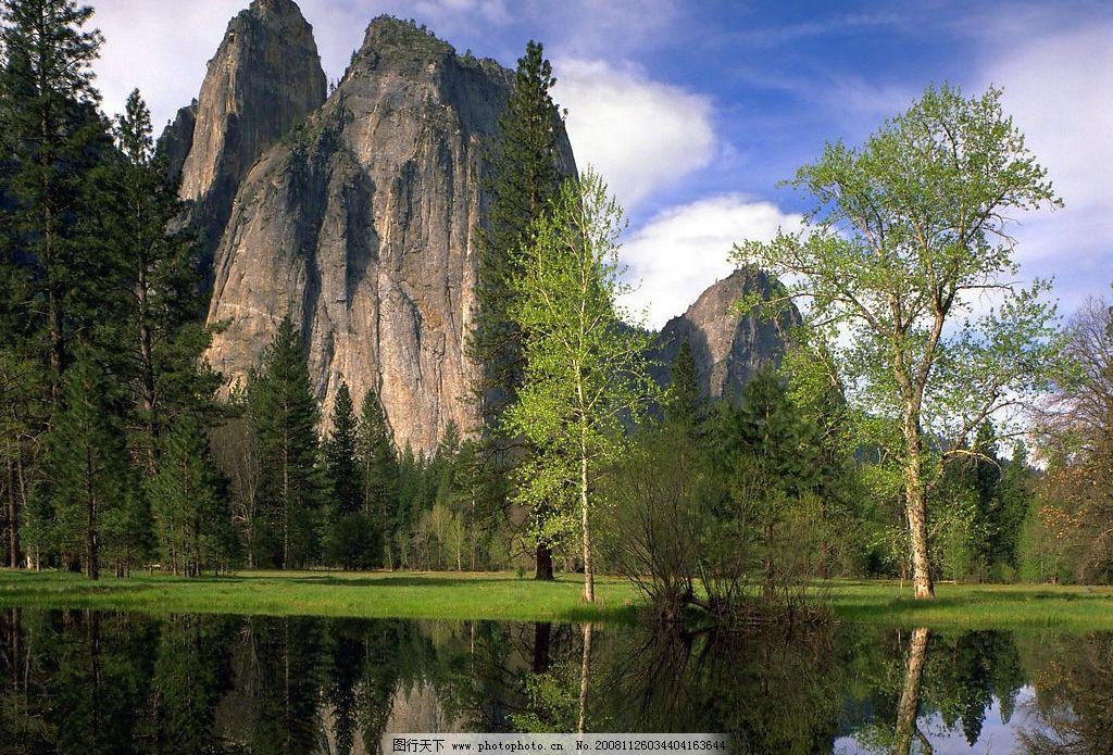 山水风景 山 湖 树木 自然景观 摄影图库 72dpi jpg