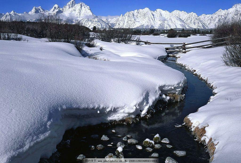 清晰雪地 雪山 冬天 冬季 树林 白雪 大雪 风雪 小雪 雪白