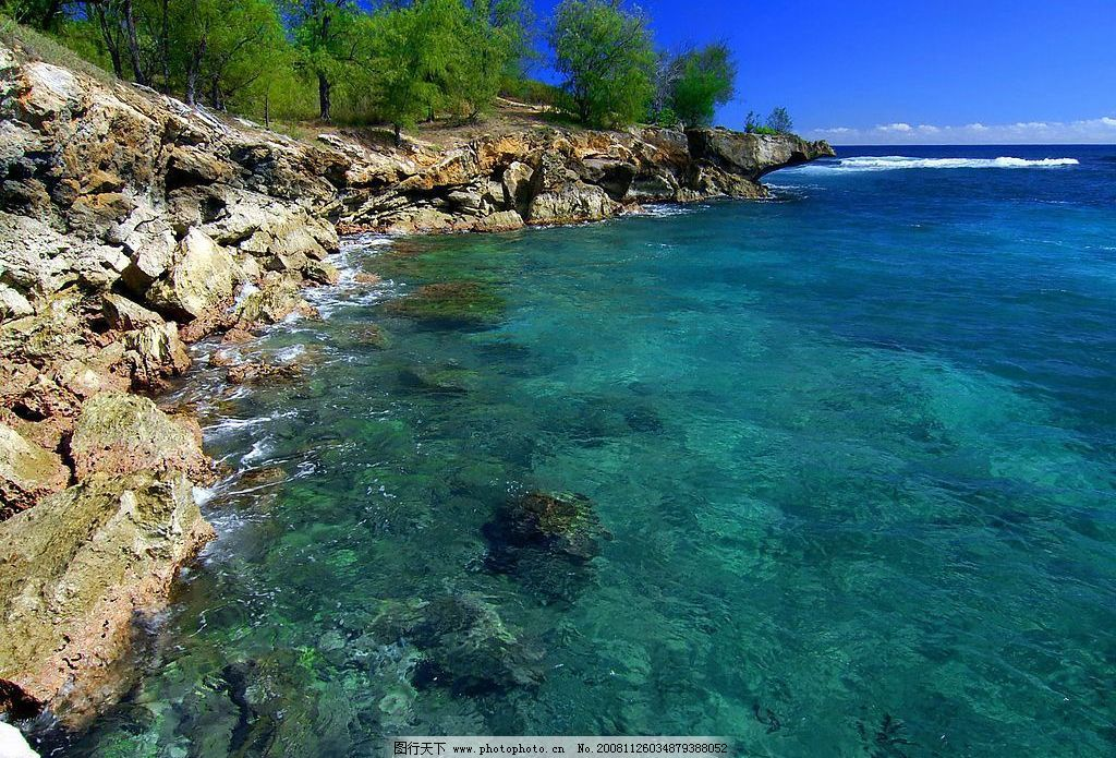 夏威夷海岸 海岸 自然景观 自然风景 摄影图库 72dpi jpg