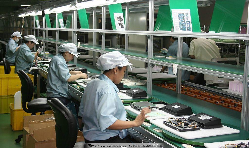 生产线 电子 电路板 电路 生产 制造 工厂 工业 工作 作业 作业员