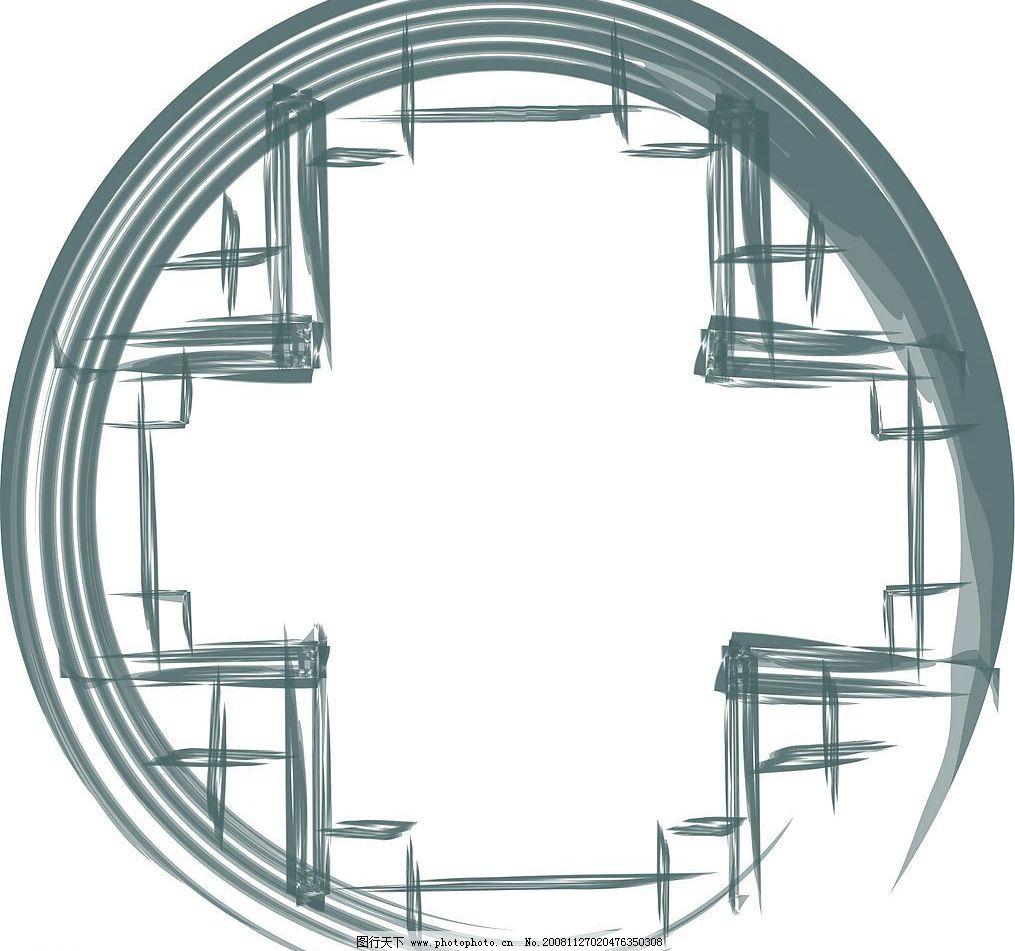 古典边框 中国水墨窗框 底纹边框 边框相框 矢量图库 cdr