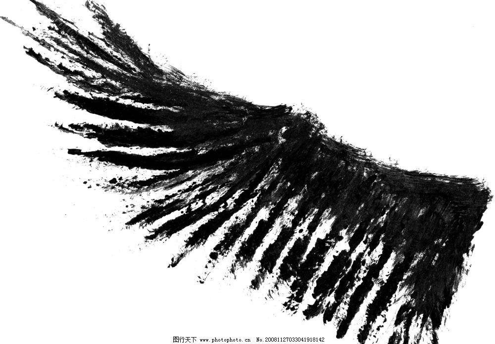 手绘翅膀图片