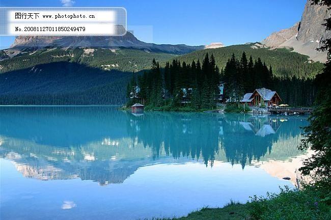 风景 树木 树林 湖水 蓝天 白云 草地 树林 日出 山水