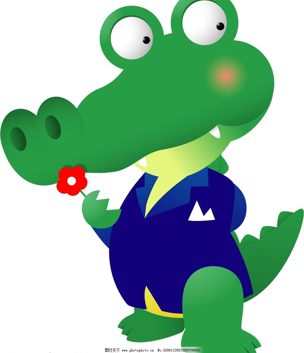 鳄鱼 可爱鳄鱼 其他矢量 矢量素材 矢量图库 ai