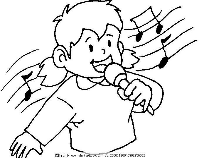 唱歌图片_动画素材_flash动画