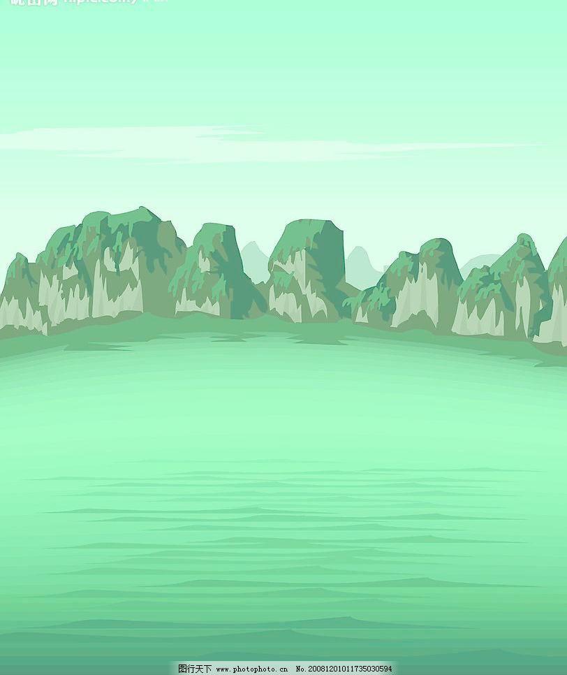 风景图片免费下载 ai 风景 风景画 风景模板下载 风景矢量素材 其他