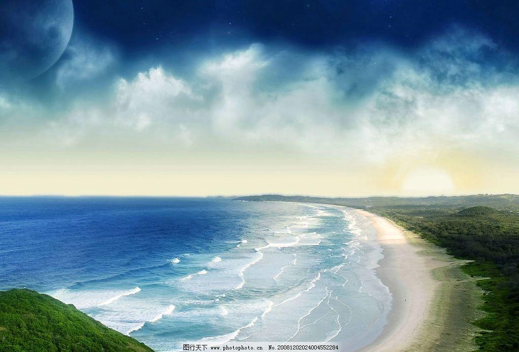 梦幻海边 大海 天空
