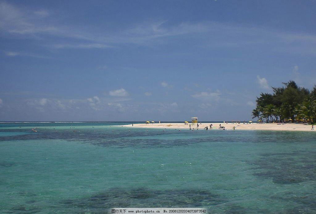 碧海�z.*�yK^[�_海岛 海边 浴场 沙滩 小岛 塞班岛 碧海 国外旅游 摄影图库