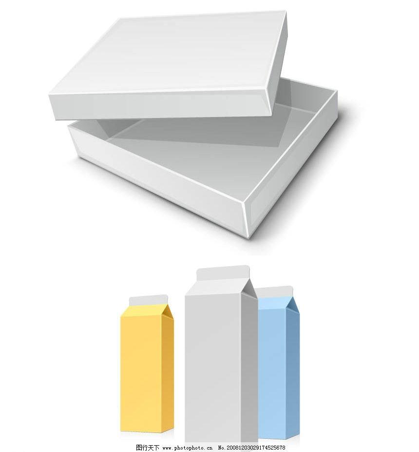 彩盒素材 矢量包装 盒子 纸盒 牛奶包装 矢量素材 广告设计 包装设计
