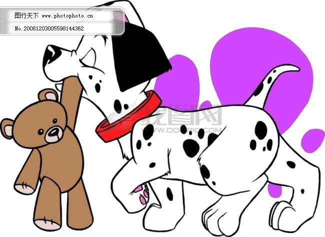 矢量插画斑点狗免费下载