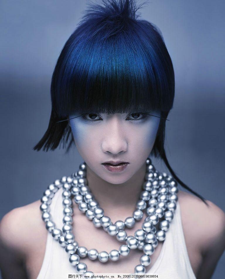时尚发型 发型 模特 彩妆图片