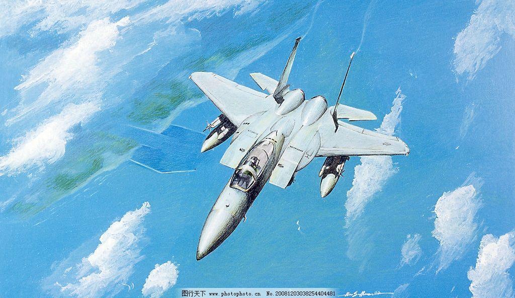 f15战斗机手绘图图片