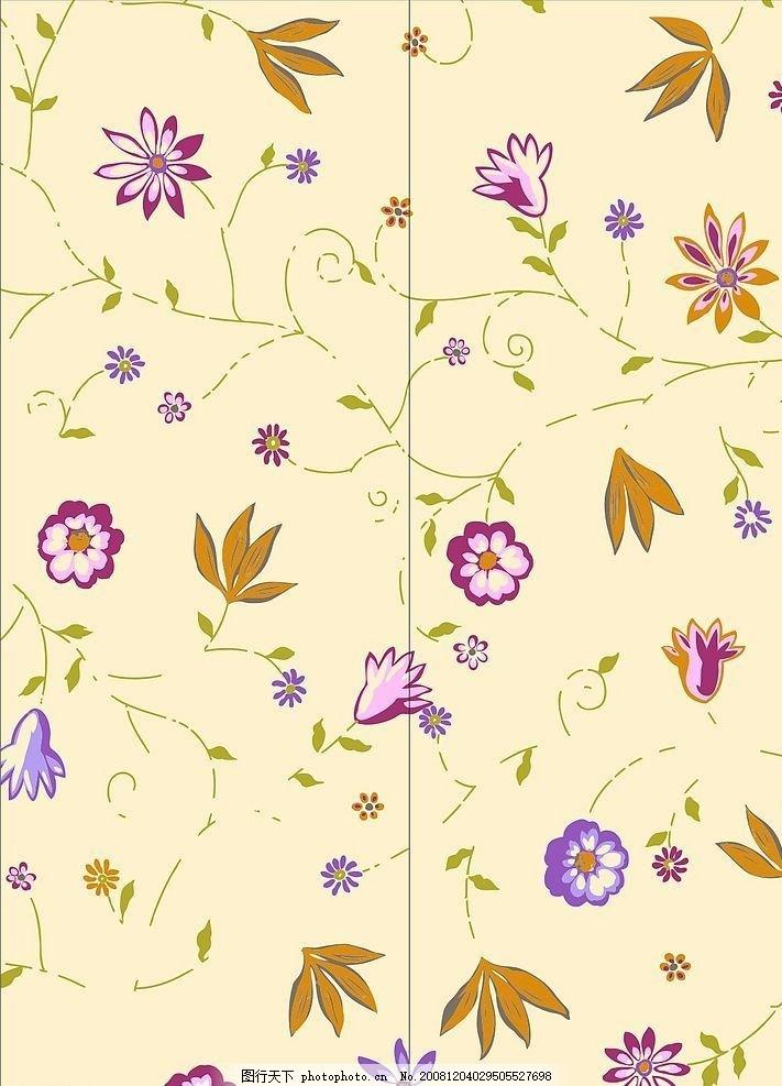 叶子 中国风 花 花朵 星光 门艺系列 鲜花 线条门艺 矢量素材 源文件