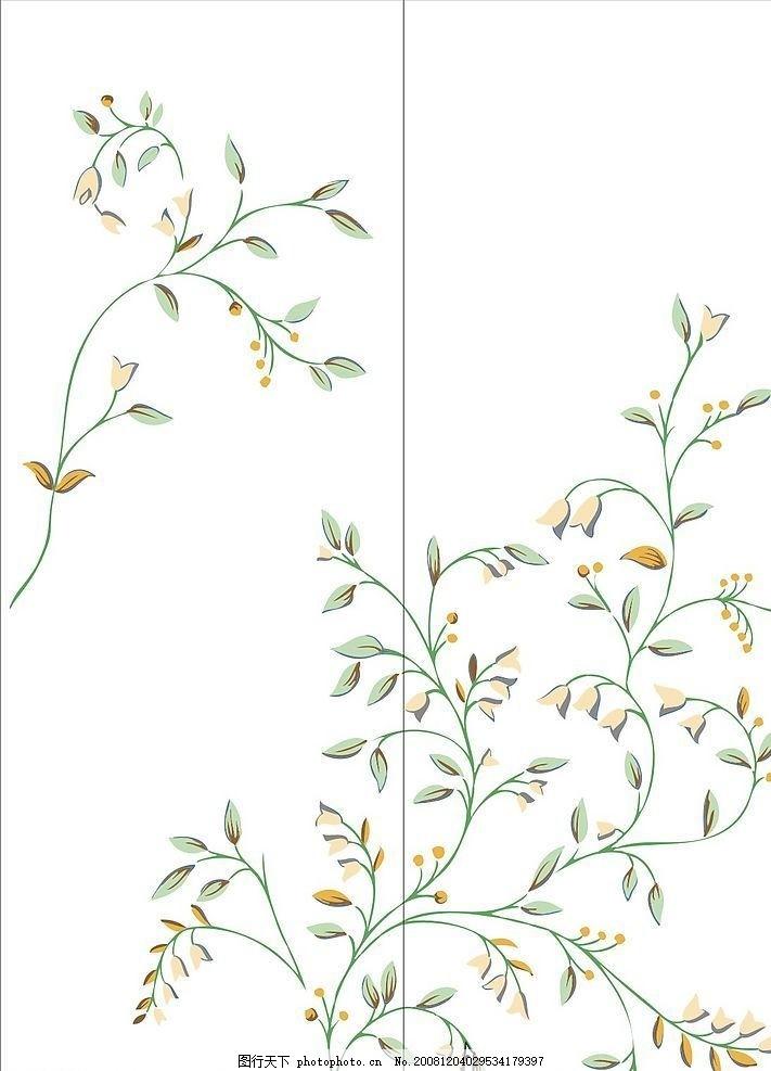 中国风花纹 叶子 花朵 星光 门艺系列 鲜花 线条门艺 矢量素材