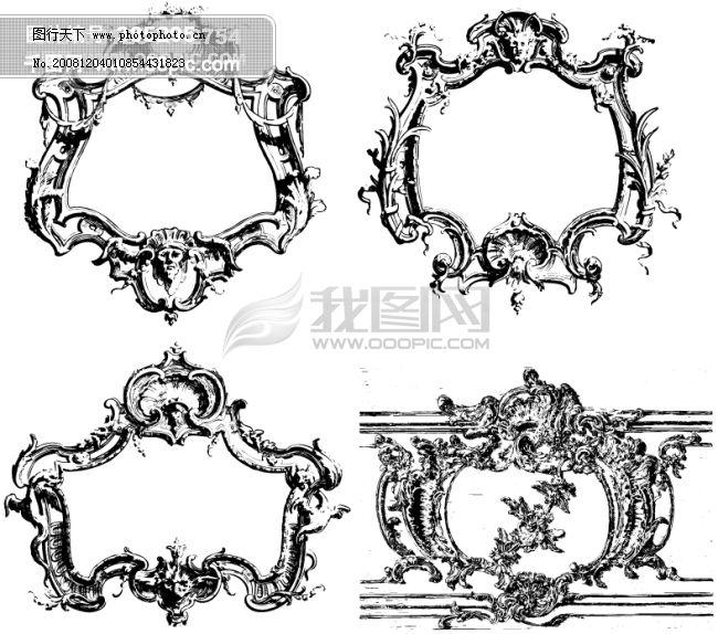 花纹装饰ii类欧美古典线条矢量素材免费下载 欧洲古典素材 矢量素材