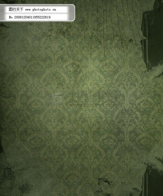 欧式浅绿色暗花墙纸贴图