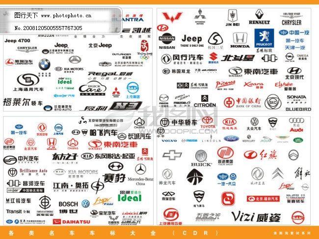 北京现代 本田 东南汽车 风行汽车 超全矢量车大全 北京吉普千里马