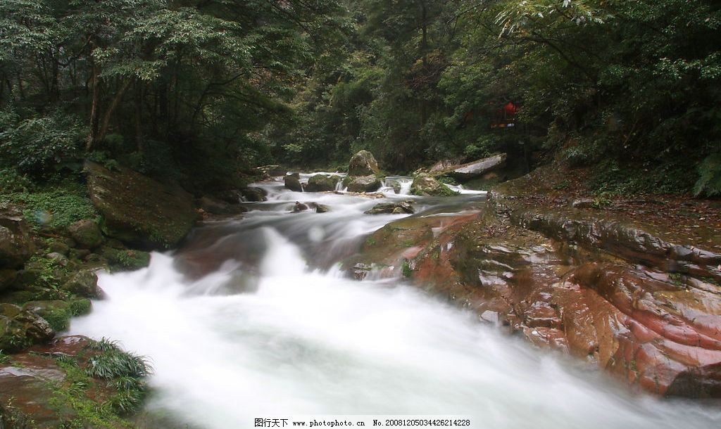 张家界 金边溪 溪流 石头 树林 自然景观 山水风景 摄影图库 jpg