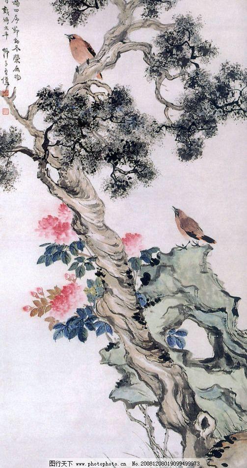 国画 鸟 国画鸟 水墨画 树 松树 山水画 梅花 古代诗人 文化艺术 绘画