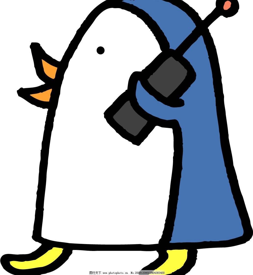 打电话 卡通 小动物 矢量人物 其他人物 矢量图库图片