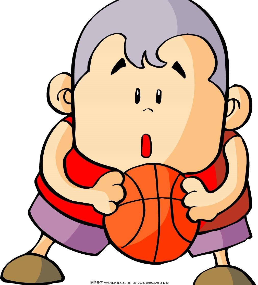 卡通少年 篮球 矢量人物 其他人物 矢量图库