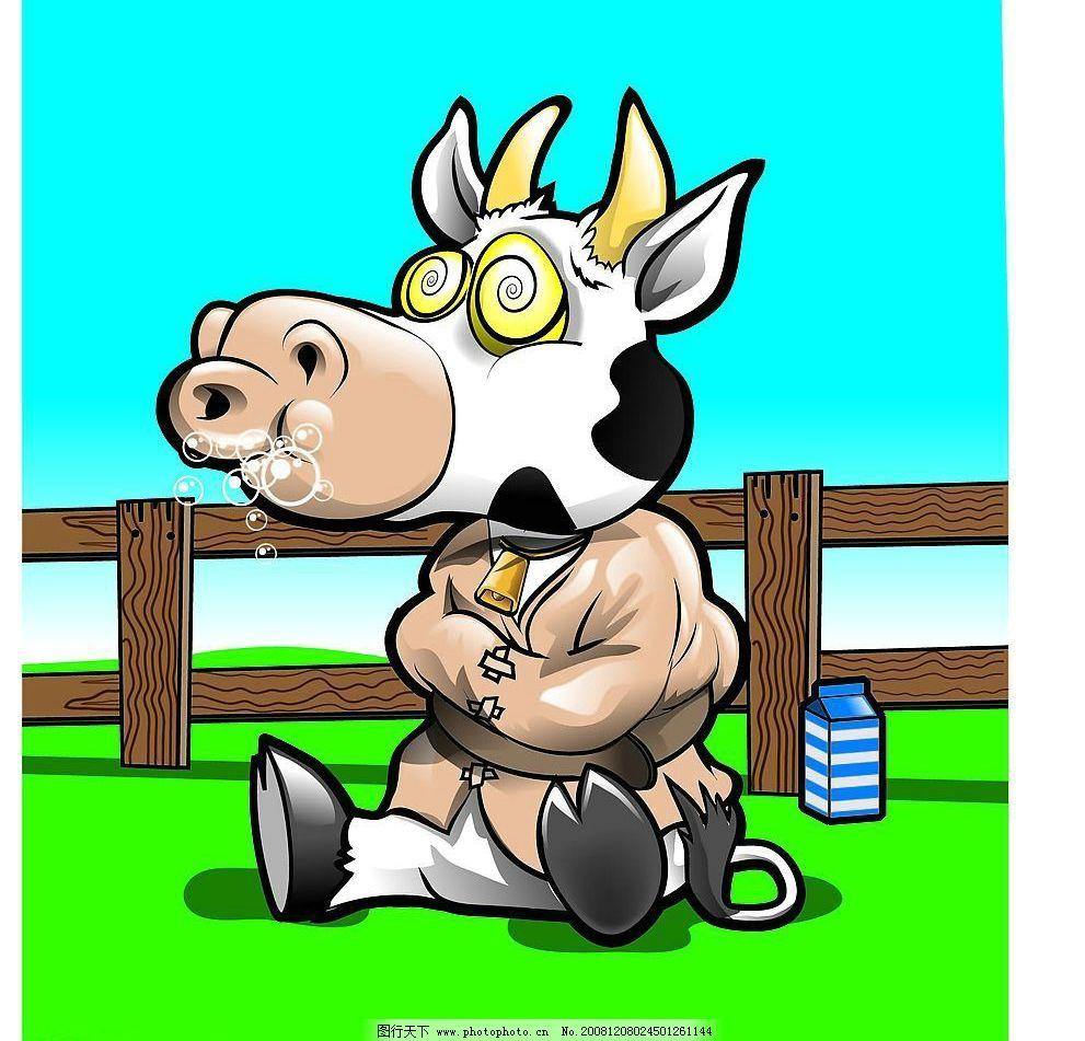 牧场奶牛图片