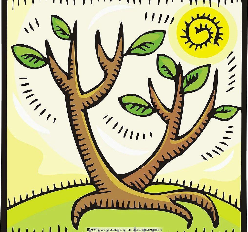 卡通树图片