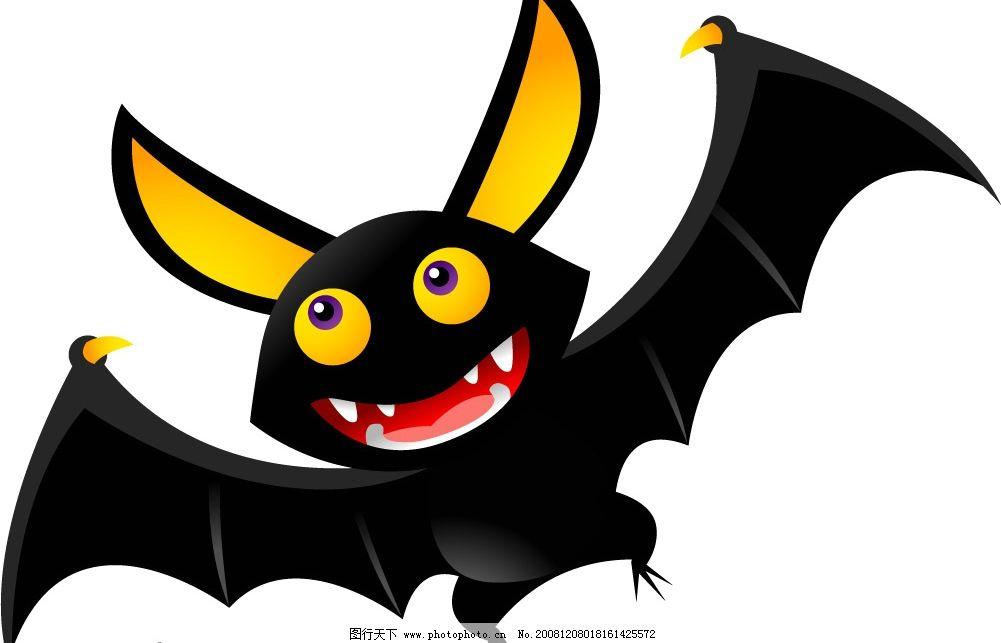 小黑蝙蝠 小黑 蝙蝠 矢量图库 可爱动物 ai
