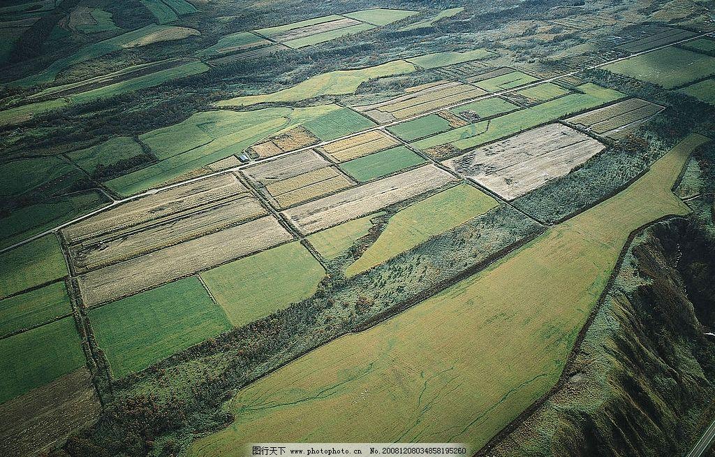 地面俯视图图片 自然风光 自然景观 自然风景 大山 农田 田园风光
