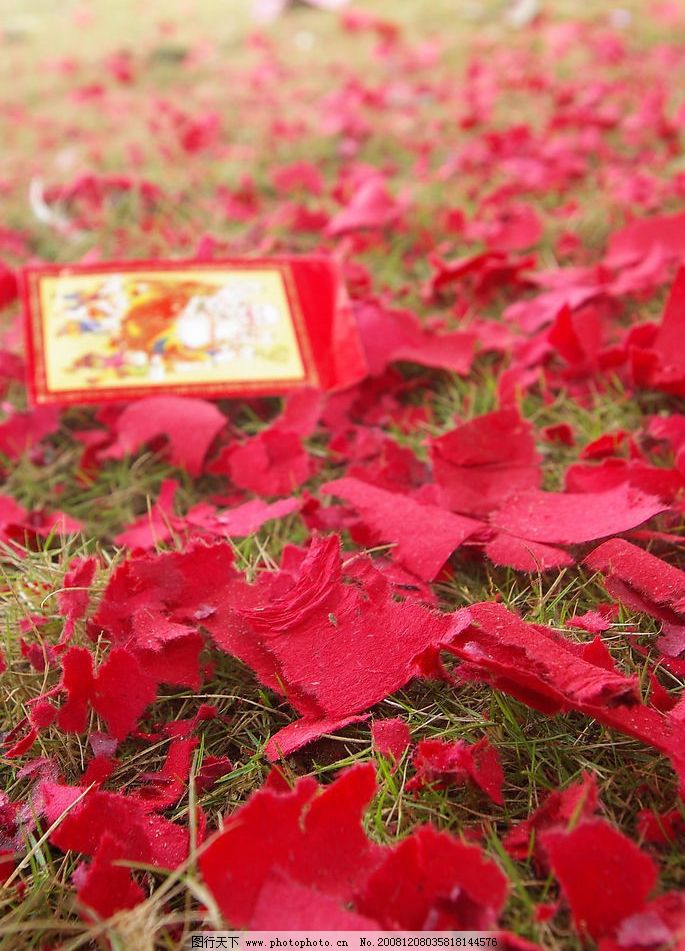 鞭炮纸和红包图片_树木树叶_生物世界_图行天下图库