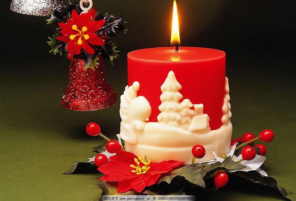 圣诞节 圣诞 蜡烛 节日 光 背景图 其他 图片素材 摄影图库 300dpi