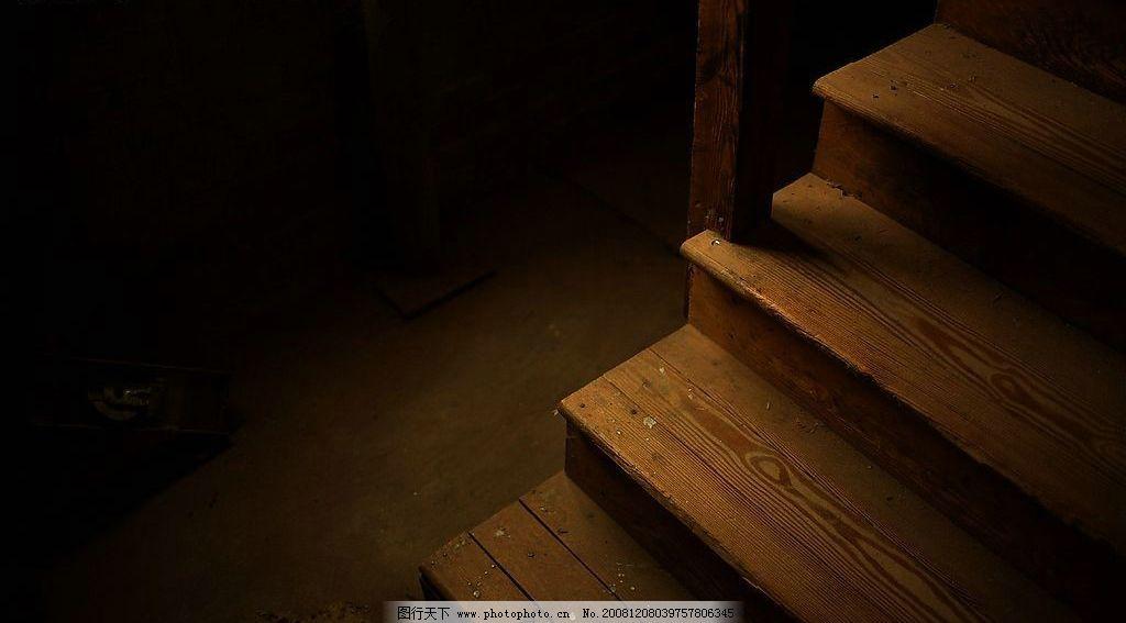 暗角里的楼梯 木板 楼梯 角落 其他 图片素材 摄影图库 72dpi jpg