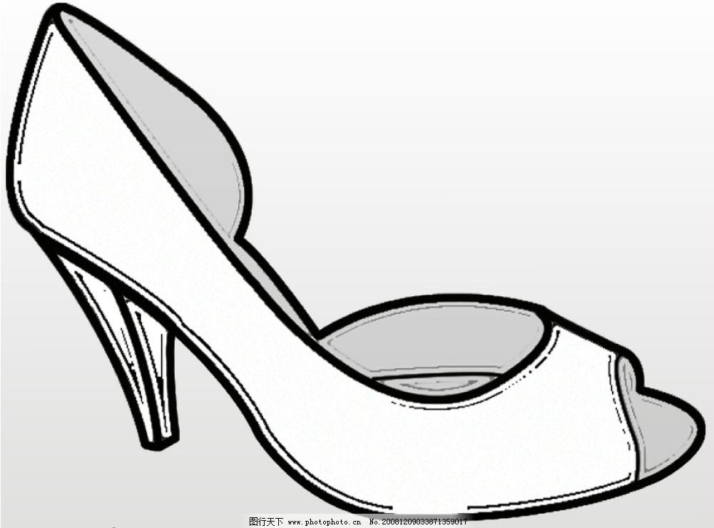 鞋子设计图简笔画