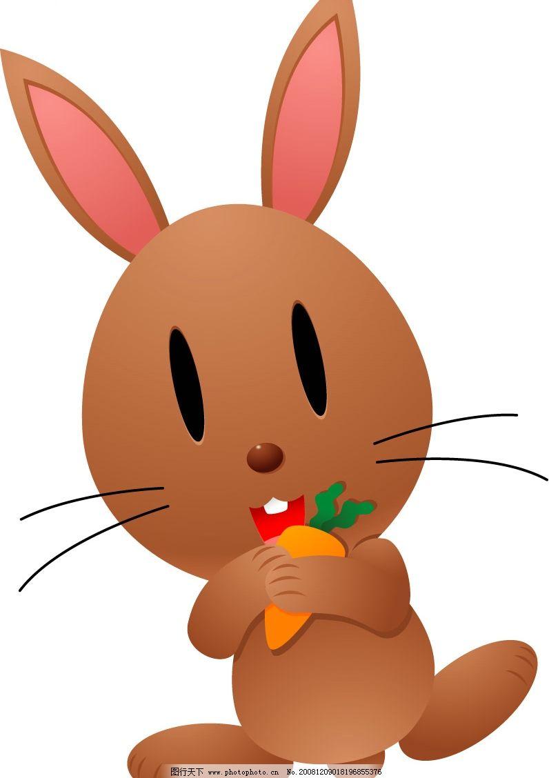 小兔子 棕色小兔子 矢量小兔子 矢量动物 矢量图库 可爱动物 ai