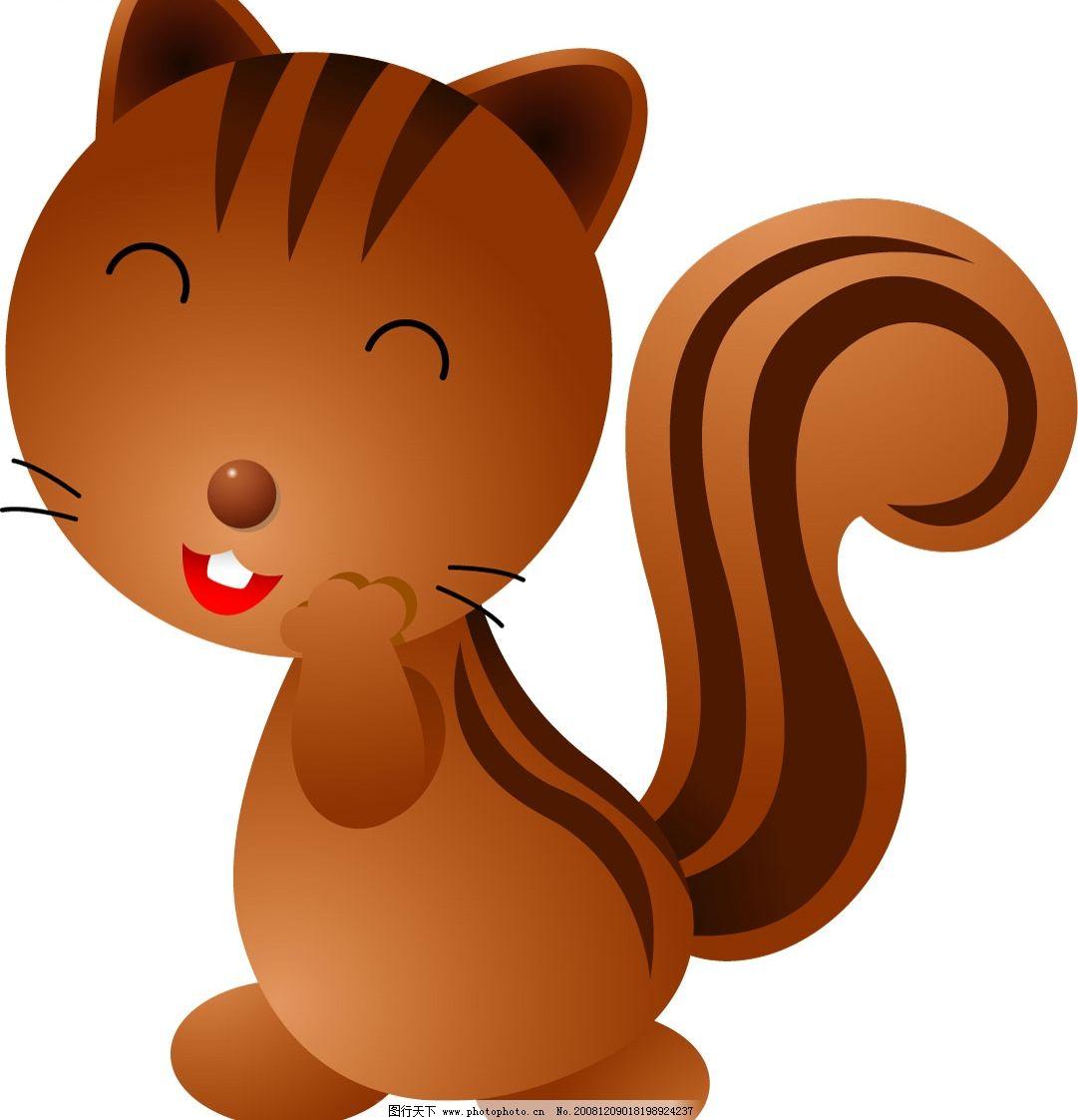 松鼠 矢量松鼠 可爱松鼠 矢量图库 可爱动物 ai