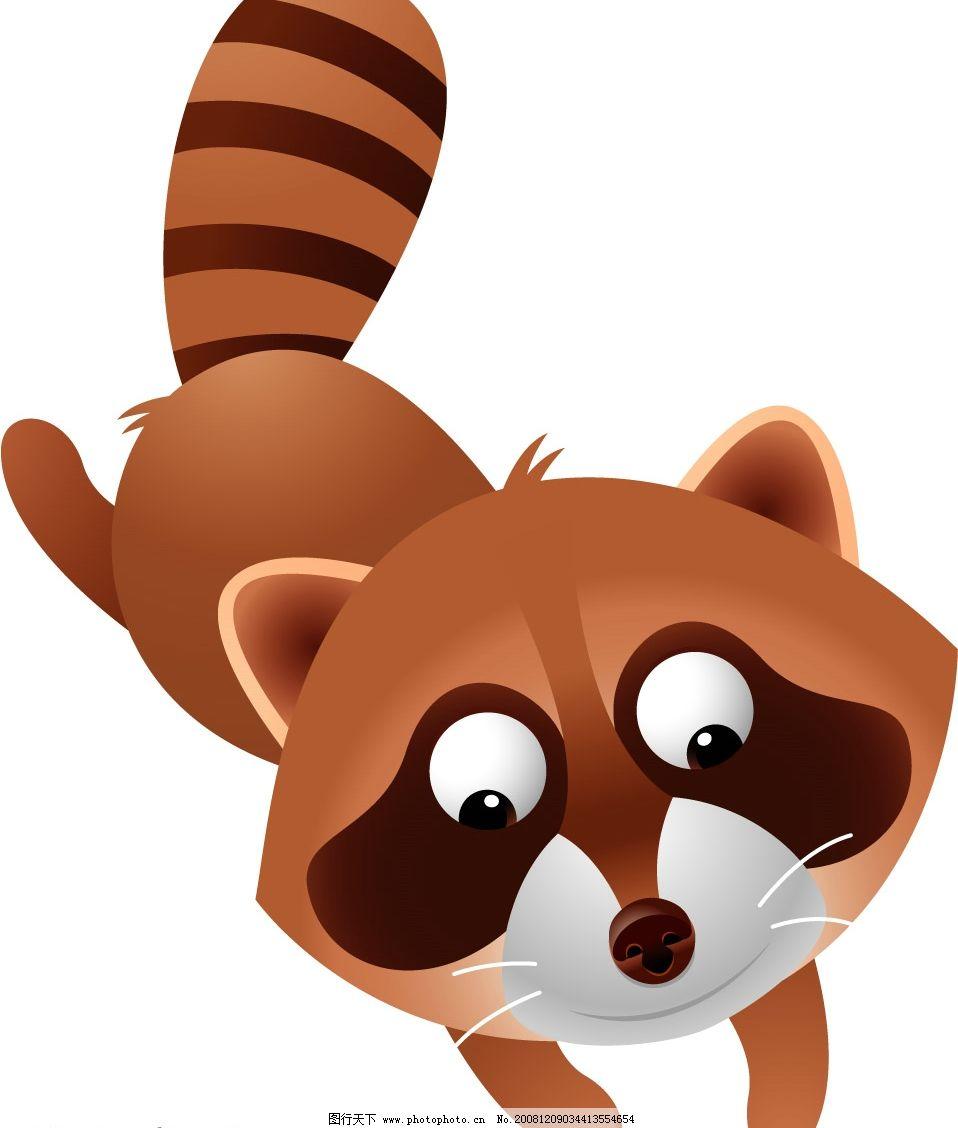 小浣熊图片,矢量小浣熊 矢量图库 可爱动物-图行天下