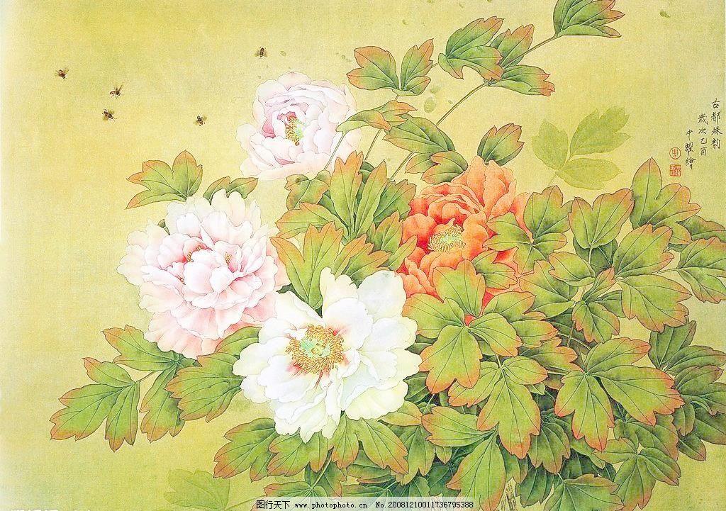 国画之牡丹花设计素材 国画之牡丹花模板下载 国画之牡丹花 国画 牡丹