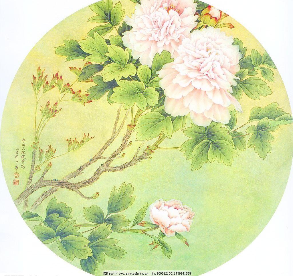 国画 蝴蝶 花 绘画书法 牡丹花 设计图库 文化艺术 国画之牡丹花设计