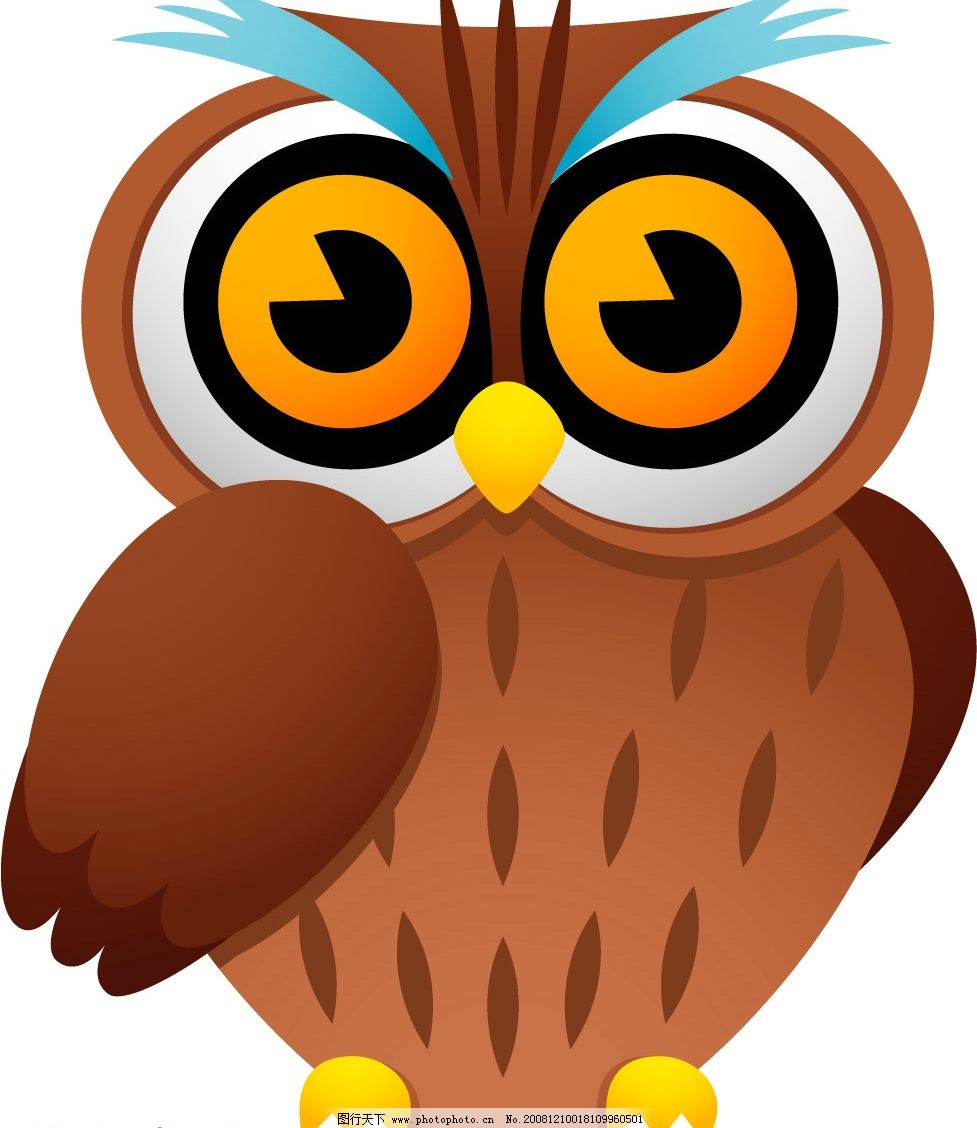 猫头鹰 可爱猫头鹰 矢量猫头鹰 矢量图库 可爱动物