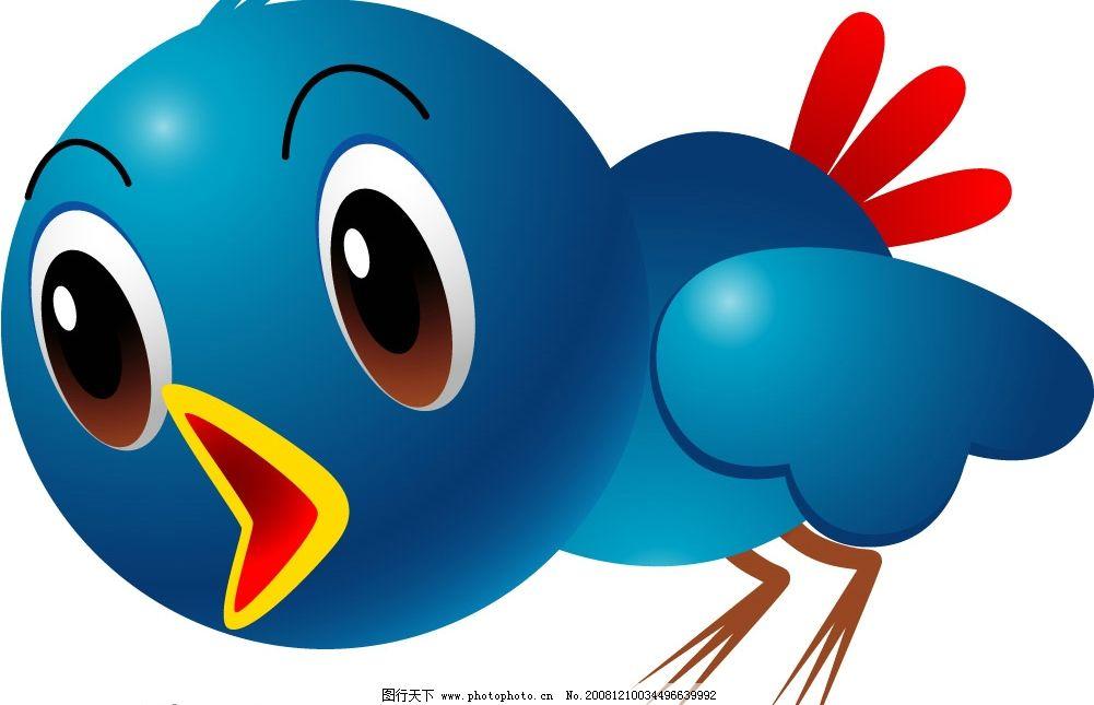 小鸟 蓝色小鸟 矢量小鸟 矢量图库 可爱动物