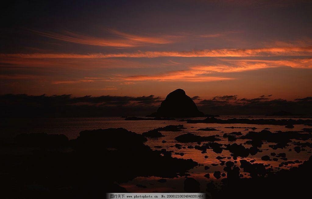 落日美景图片 自然风光 自然风景 自然景观 黄昏 落日 日落 傍晚 山峦