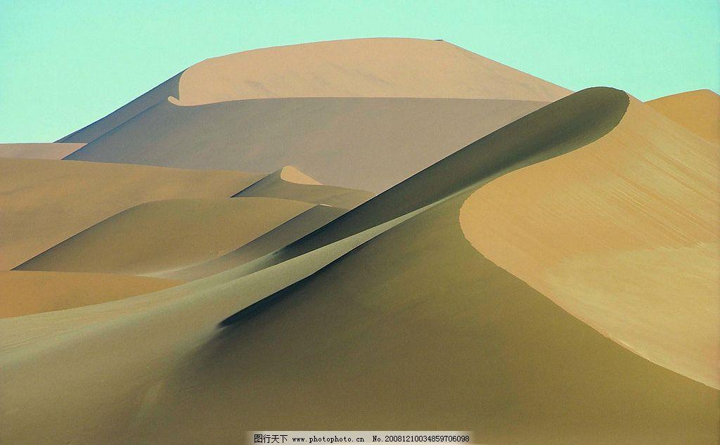 沙漠风光 蓝天 沙丘 风景 高清 摄影 自然景观 自然风景 摄影图库