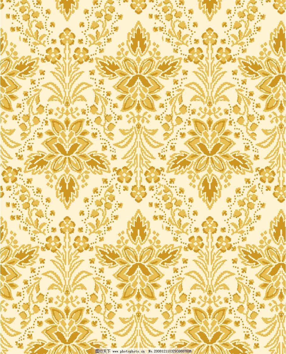 服装图案 家纺图案 古典图案 纺织图案 经典纹样 psd分层素材 背景