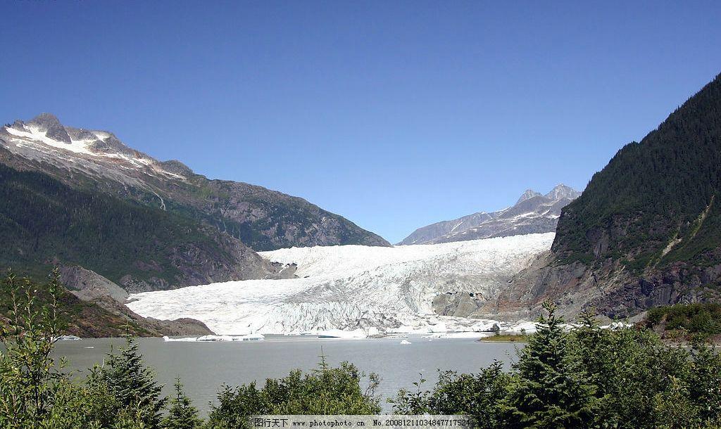 山水风景 山川 河流 树林 蓝天 自然景观 自然风景 摄影图库