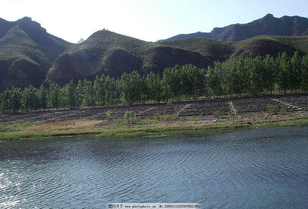 野三坡 湖水 山脉 树林 风景 旅游摄影 国内旅游 300dpi 山景 水景