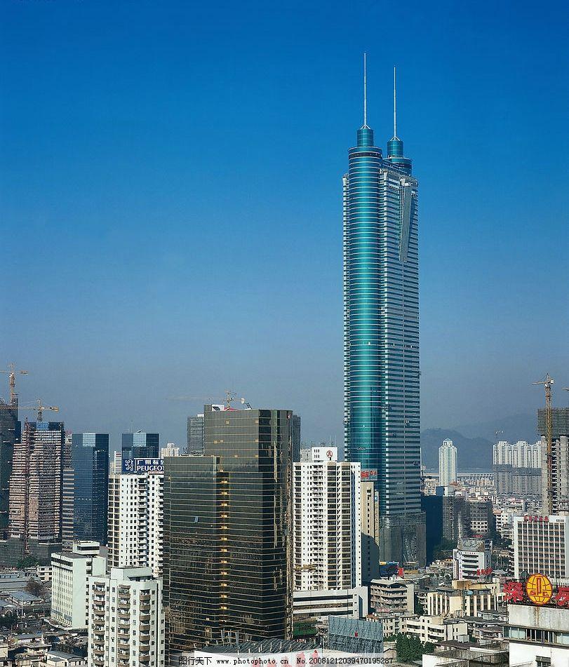 精品高樓大廈 高樓大廈遠景 遠處高樓 仰視高樓 玻璃外墻 圓柱高樓