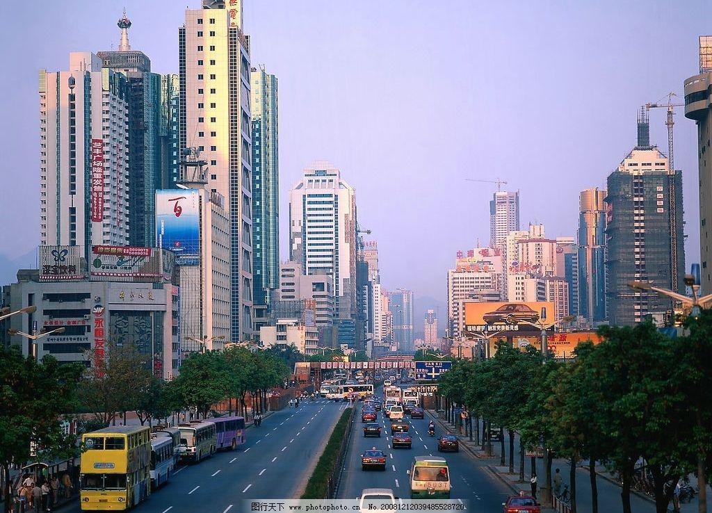 精品高樓大廈 高樓大廈遠景 遠處高樓 街道 汽車 仰視高樓 玻璃外墻